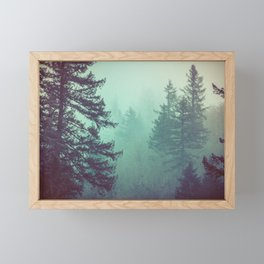 Forest Fog Fir Trees Framed Mini Art Print