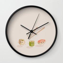 Running Sushi Wall Clock