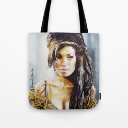 Winehouse Portrait 3 Tote Bag