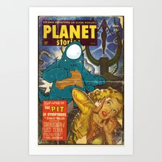 URBNPOP PLANET STORIES Art Print