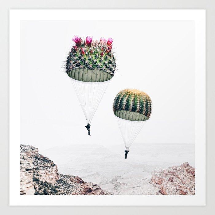 Flying Cacti Kunstdrucke