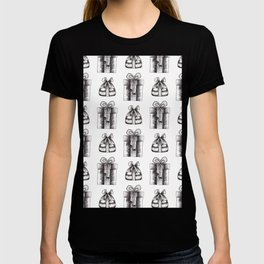 Black And White Christmas Objects Decor T-shirt