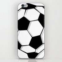 soccer iPhone & iPod Skins featuring Soccer by An Luong