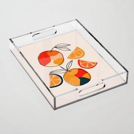 Juicy Citrus Acrylic Tray