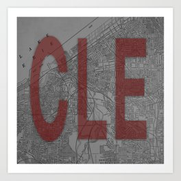 HOME IS CLE Art Print