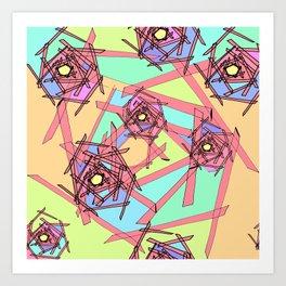 Sticks of Many Colours Art Print
