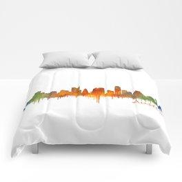 Austin Texas, City Skyline, watercolor  Cityscape Hq v2 Comforters