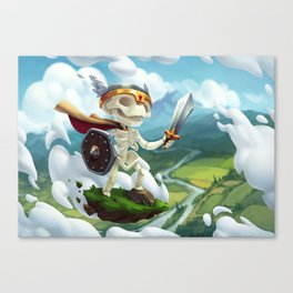 The Flying Skeleton Canvas Print