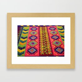 Colorful Guatemalan Alfombra Framed Art Print