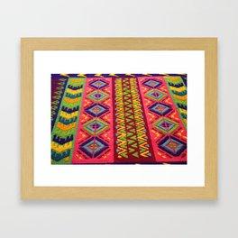Colorful Guatemalan Alfombra Framed Art Print