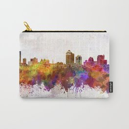 New Haven skyline in watercolor background Carry-All Pouch