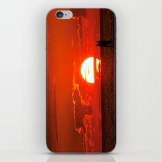 Walking at Sunset iPhone & iPod Skin
