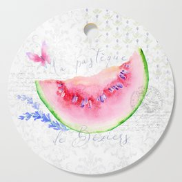 La Pastèque de Béziers—Watermelon and Lavender, Provence Cutting Board