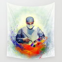 medicine Wall Tapestries featuring The Art of Medicine by Cleev