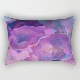 Purple, teal and blue abstract watercolor clouds Rectangular Pillow