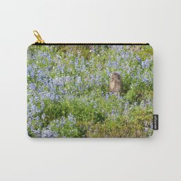 Marmot and wild flowers at Mount Rainier Carry-All Pouch