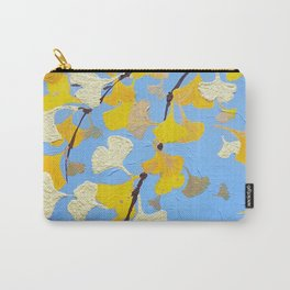 Yellow ginkgo biloba leaves Carry-All Pouch