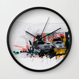 Accident one Wall Clock