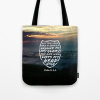 shield Tote Bags featuring SHIELD by Pocket Fuel