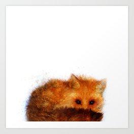 Shy Red Fox Art Print