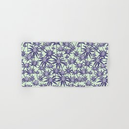 Sea holly in mint and purple Hand & Bath Towel