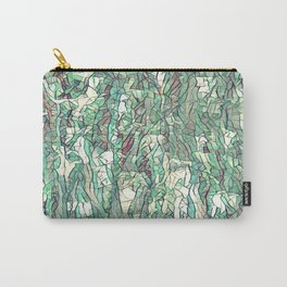 Abstract green Carry-All Pouch