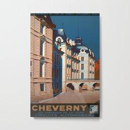 Cherverny Vintage Travel Poster Metal Print