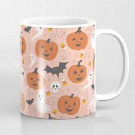 Pumpkin Party on Blush Pink Coffee Mug