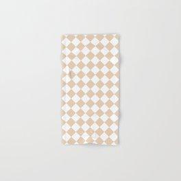 Diamonds - White and Pastel Brown Hand & Bath Towel