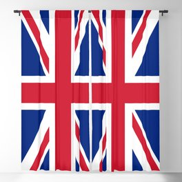 Union Jack, Authentic color and scale 1:2 Blackout Curtain
