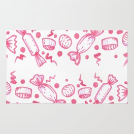 Candy doodle pink cute Rug