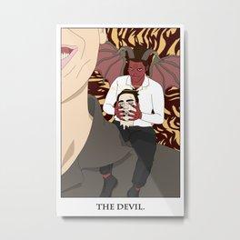 The Devil Tarot Metal Print
