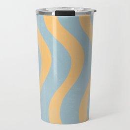Minimal Bicolor Pattern  Travel Mug