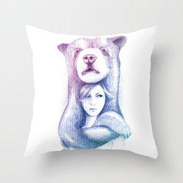 Wall Art - Bear Hand Drawn Throw Pillow