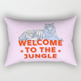 welcome to the jungle - retro tiger Rectangular Pillow