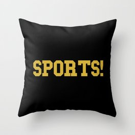 Sports - version 3 - gold Throw Pillow