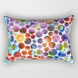 Dots on Painted Background 5 Rectangular Pillow