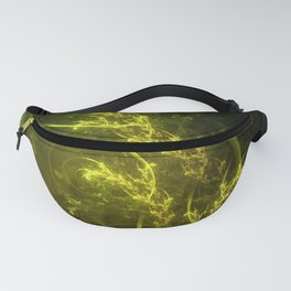 Magical Fractal Fairy Ferns in an Emerald Forest Fanny Pack