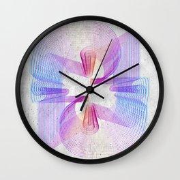 Concrete graffitti rainbow lineart  Wall Clock