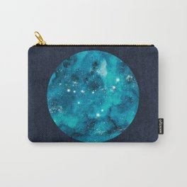 Capricorn zodiac constellation on navy blue Carry-All Pouch
