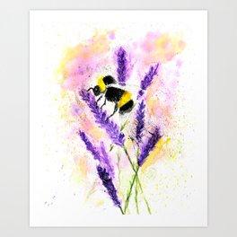 Buzzing Bumblebee Art Print