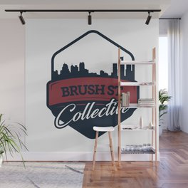 Brush St. Collective Logo Wall Mural