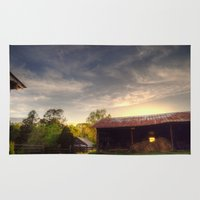 tennessee Area & Throw Rugs featuring Tennessee Sunset by Terbo