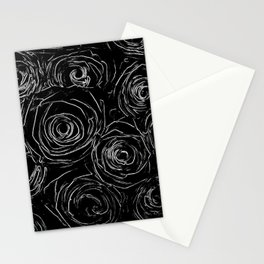 Black White Abstract Stationery Cards
