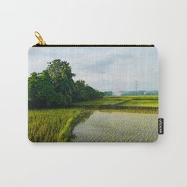 Tropical Green Rice Field in Ilocos Sur Philippines Carry-All Pouch
