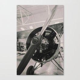 Vintage prop plane ( B&W photo print). Canvas Print