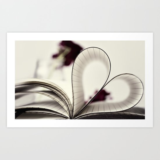paper  heart ♥ Art Print