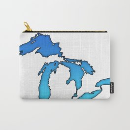 Great Lakes in Blue Carry-All Pouch