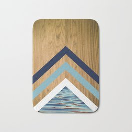 Wood Water Waves Geometric Hipster Triangels Bath Mat