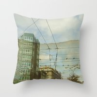 milan Throw Pillows featuring Milan - Underground by Sandra Liarte